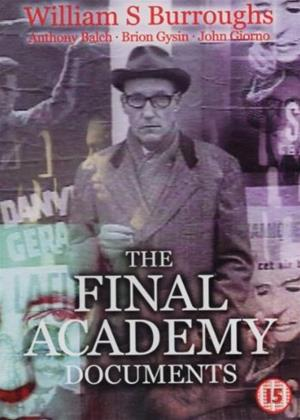 Rent William S. Burroughs: The Final Academy Documents Online DVD Rental