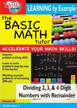 Rent The Basic Math Tutor: Dividing 2, 3 and 4 Digit Numbers with Remainder Online DVD Rental