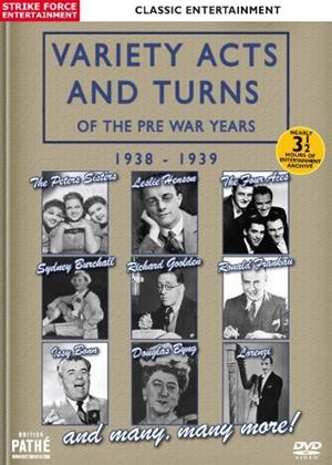 Rent Variety Acts and Turns of the Pre War Years: 1938-1939 Online DVD Rental