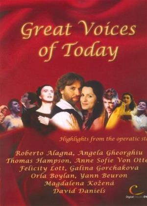 Rent Great Voices of Today Online DVD Rental