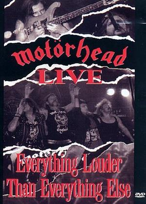 Rent Motorhead: Everything Louder Than Everything Else: Live Online DVD Rental