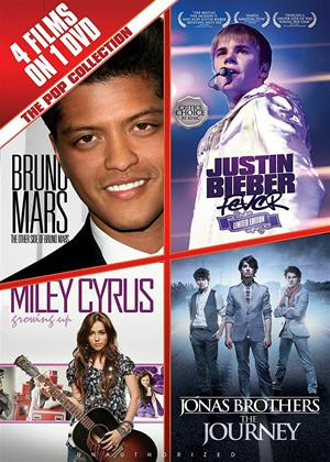 Rent The Pop Collection (aka The Pop Collection: Bruno Mars, Justin Bieber, Miley Cyrus & The Jonas Brothers) Online DVD Rental