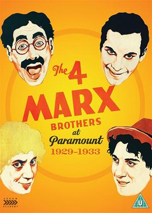 Rent The 4 Marx Brothers at Paramount: 1929-1933 (aka The Cocoanuts / Animal Crackers / Monkey Business / Horse Feathers / Duck Soup) Online DVD Rental