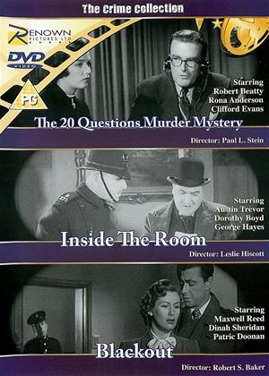 Rent The Crime Collection (aka Inside the Room / The 20 Questions Murder Mystery (Murder on the Air) / Blackout) Online DVD & Blu-ray Rental